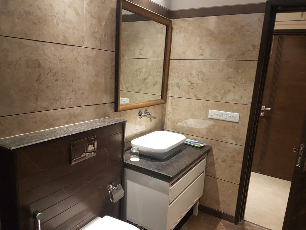 Luxury Suite has 2 washrooms with 2 private rooms.