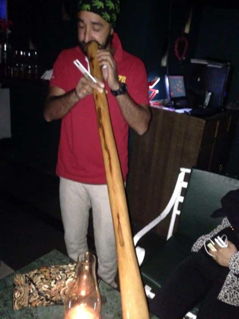 Bob playing Didgeridoo