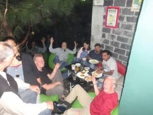 Guests from Frankfurt Germany at Hangout Hotel in Kasauli Regency