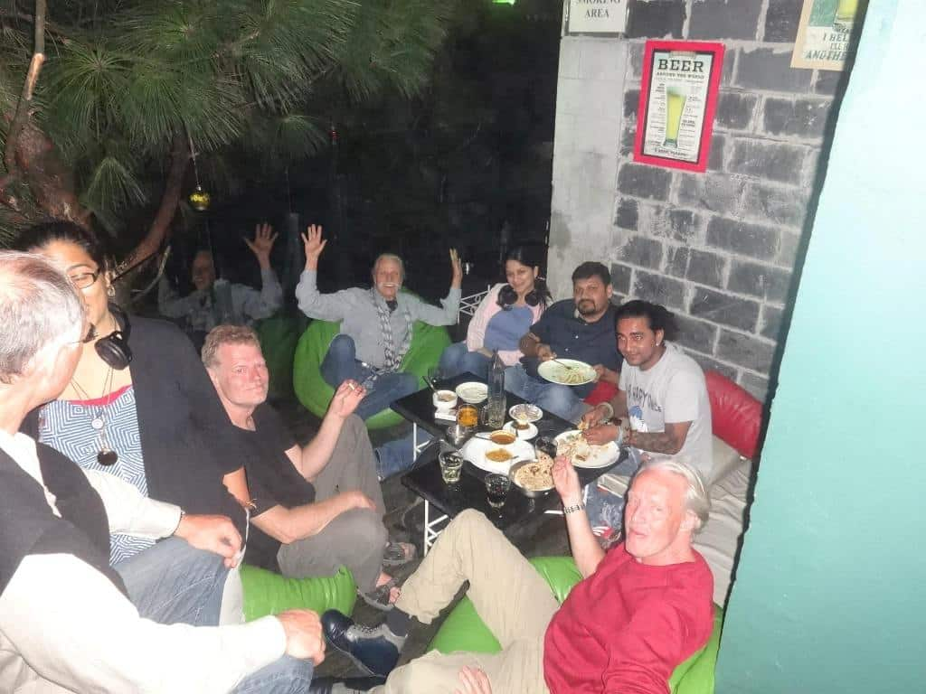 Guests from Frankfurt Germany at Hangout Hotel in Kasauli Regency