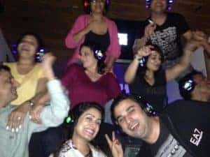 Gusests enjoying Headphone Party at Hangout