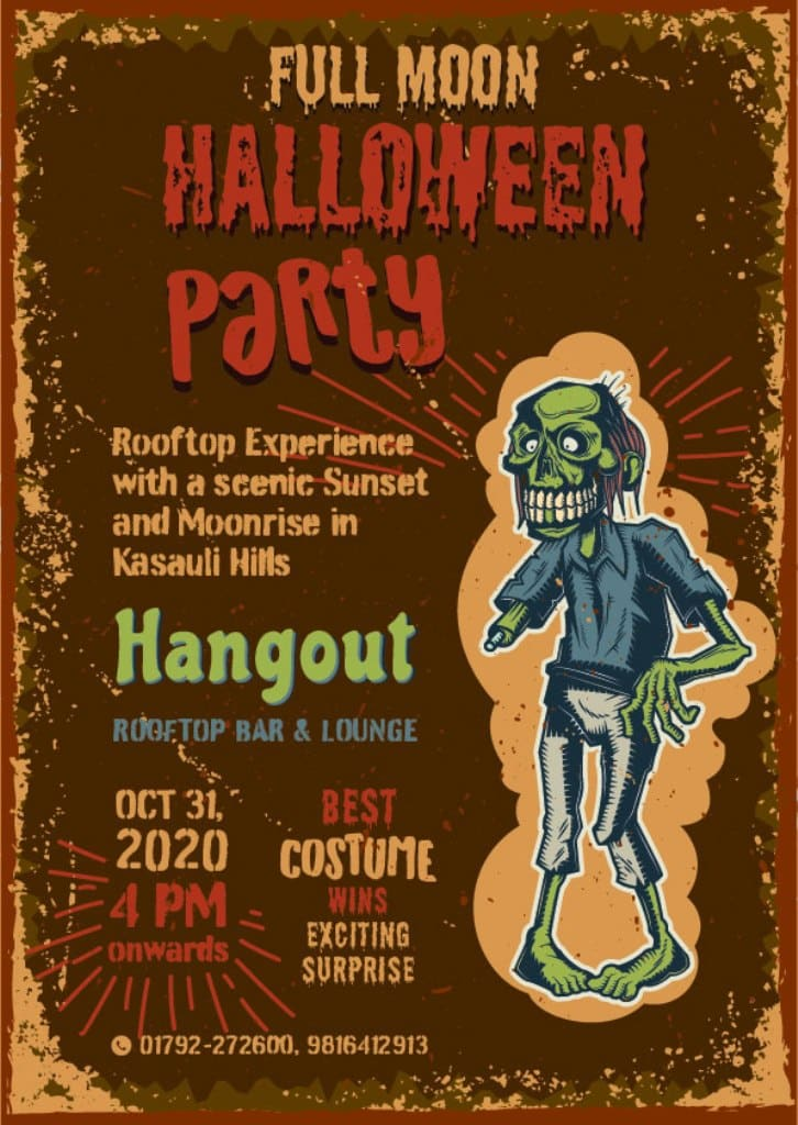 Poster of Halloween Party in Kasauli Hotels Regency