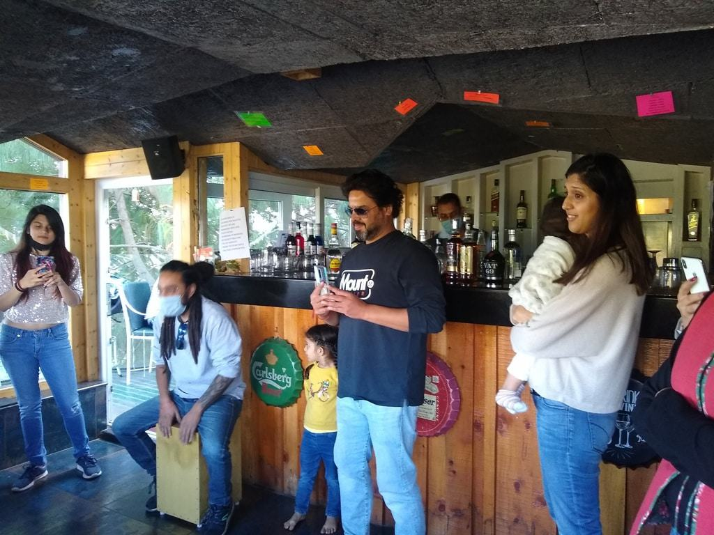 Customers Enjoying Open Mic in Kasauli Hotel Regency