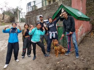 Kasauli Nature Walks- Cleaning Drive during a Walking tour.