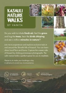 So now you can enjoy Kasauli Nature Walks by Vanita