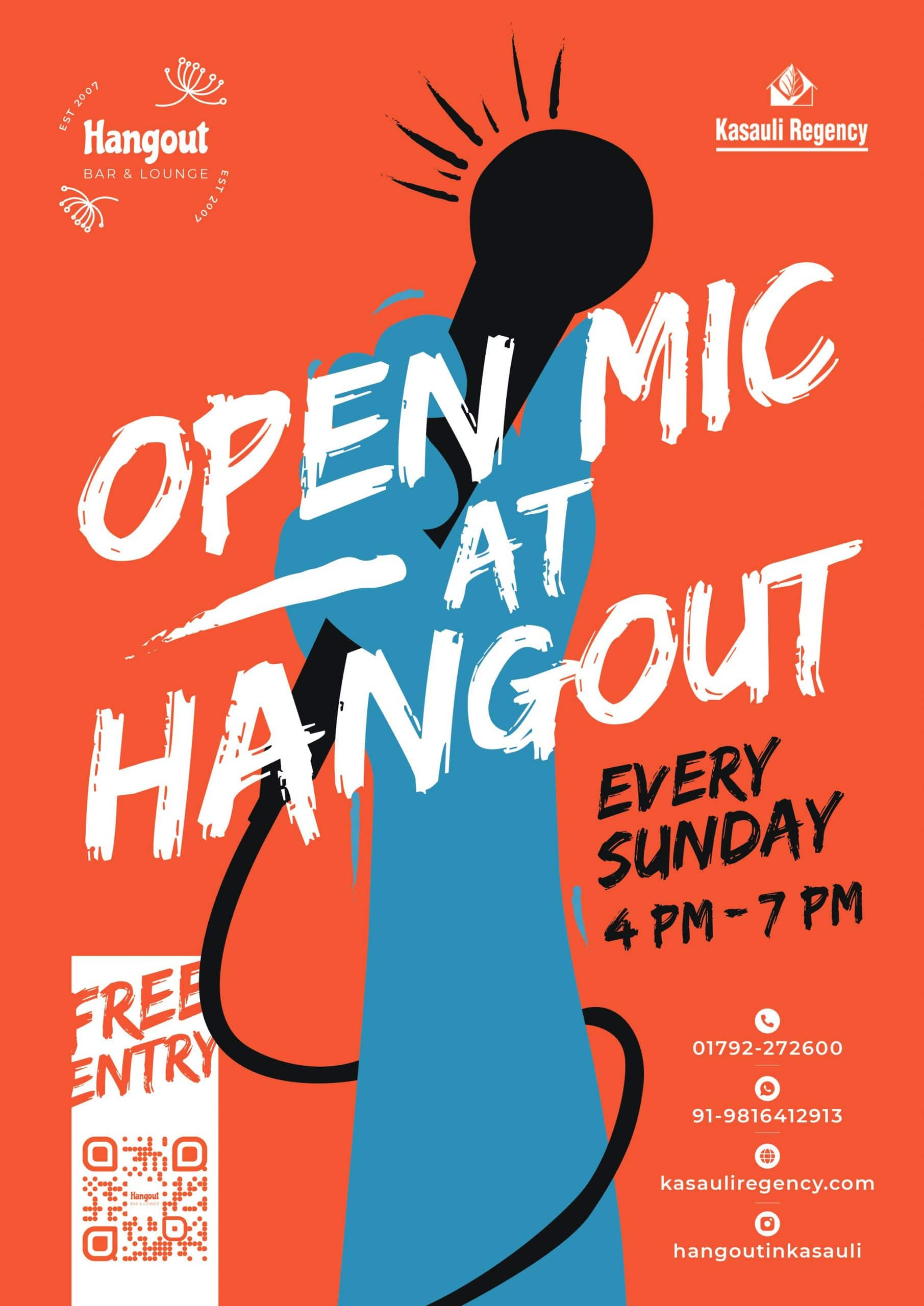 Open Mic is one the Facilities in Hotel Kasauli Regency