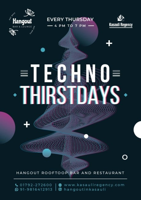 Techno Deep House Music in Hangout Roof Top Bar
