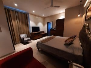 Luxury Suite is good for a big family, because it has two rooms.